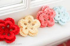 One Dog Woof: 5 Petal Crochet Flower