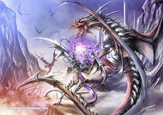 Spellcaster Bodyguard by Dragolisco on DeviantArt World Of Fantasy, Fantasy Books, Fantasy Art, Fire Dragon, Dragon Art, Digital Art Gallery, Dragon Pictures, Fantasy Pictures, Thing 1