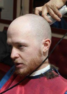 Bald Heads - Hairl Loss Tips Buzz Cut With Beard, Shaved Head With Beard, Bald Men With Beards, Bald With Beard, Mens Hairstyles With Beard, Hairstyles Haircuts, Bare Men, Shaving Your Head, Going Bald