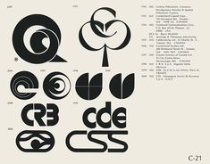 :: Collection of vintage logos from a mid-70's edition of the book World of Logotypes.C-21::