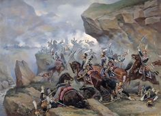 Attack of the 1st Guard Polish Lancers to the Spanish battery at the Battle of Somo-Sierra, November 30, 1808