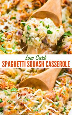 Healthy Low Carb Spaghetti Squash Casserole with ground turkey tomatoes and Italian spices Easy CHEESY and always a crowd pleaser Whole 30 and Paleo friendly gluten free and packed with protein via wellplated Healthy Turkey Recipes, Healthy Ground Turkey, Healthy Casserole Recipes, Vegetarian Recipes, Potato Recipes, Gourmet Recipes, Keto Recipes, Ground Chicken Recipes, Ground Turkey Recipes