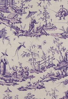 Shengyou Toile in Iris | 125th Anniversary Collection | Schumacher
