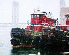 Tugboats Portsmouth New Hampshire Tugboats by ShadetreePhotography