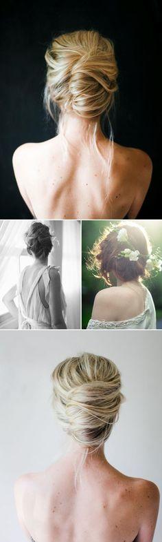 Loose up-dos bridal wedding