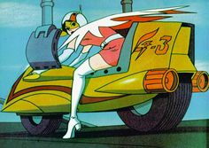 Tron..pfff! This betty has been doing donuts since 72. Science Ninja Team Gatchaman or Battle of the Planets to the western world.
