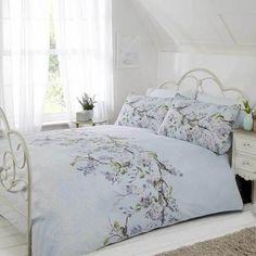Rapport Home Eloise Duck Egg Duvet Cover and Pillowcase Set