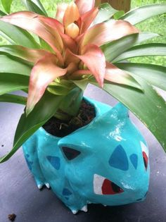Pokemon Ivysaur pot plant - by Reddit user TheThirdStarter