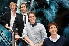 Tom Felton, Matthew Lewis, James Phelps, and Oliver Phelps!!!!!! TOTAL HOTTIES!!!