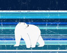 Polar Bear Horizontal by Aquamarine Studio
