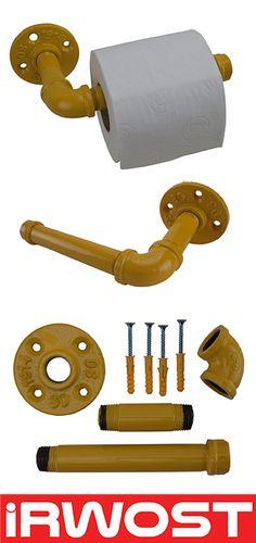 IRWOST - L'Original - Support papier toilette déco design industriel steampunk Un porte papier toilette unique, conçu par IRWOST, en tuyaux et raccords de plomberie. Simple et efficace ce porte papier wc original s'intégrera parfaitement dans vos toilettes. Finition jaune epoxy    - UK >>>> http://k6.re/SxetB - DE >>>> http://k6.re/rJwB4 - SP >>>> http://k6.re/aIJsS - IT >>>> http://k6.re/BvsaT