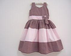 Vestido Marrom/Rosa