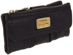 Fossil Black Emory Clutch Wallet - Fossil Wallets - Designer Wallets