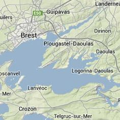 Situation map of Plougastel Peninsula in the Brest roads
