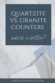 What is the best option between granite vs. quartzite counters? Find out in this post and make the decision yourself! Remodeling or building a new home? Let me help you choose the right countertop for your home. Interior Decorating Tips, Interior Design Tips, Kitchen Backsplash, Backsplash Ideas, Unique Tile, Building A New Home, Granite Counters, Kitchen Photos, Cool House Designs