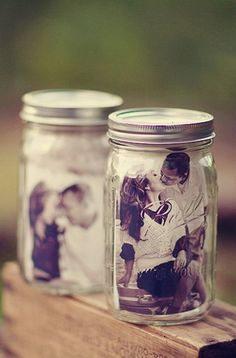 These mason jar photo frames are just one of the cute DIY touches in this mountain wedding. Fall Wedding, Diy Wedding, Rustic Wedding, Wedding Blog, Wedding Reception, Wedding 2015, Wedding Pics, Wedding Table, Wedding Stuff