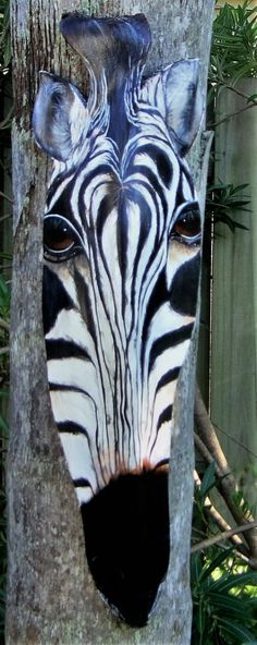 This is an original. This Zebra was cut from a Queen Palm Boot. I painted this piece free-handed- no stencil or tracing. I used acrylic paints and sealed with artists satin coat. Ready to display! The measurements are x 9 and has a depth of Palm Frond Art, Palm Tree Art, Palm Fronds, Palm Trees, Palmiers, Wood Painting Art, Found Art, Drawing Skills, Drawing Ideas