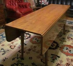 Vintage Ethan Allen Harvest Table Maple Drop Leaf Farm