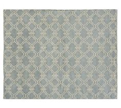 Scroll Tile Rug - Porcelain Blue #potterybarn