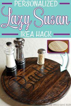 IKEA Hack!  How to Easily Personalize an $8 IKEA Lazy Susan!