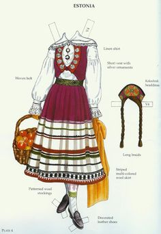 Russian Folk Costumes Paper Dolls (Ming-Ju Sun) - Nena bonecas de papel - Picasa Webalbum* 1500 free paper dolls international artist Arielle Gabriel's The Internatonal Paper Doll Society for paper doll pals at Pinterest *