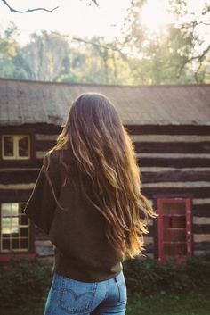 levi's, long hair and cozy cabins