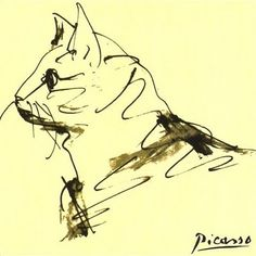 Etude de Chat  Pablo Picasso