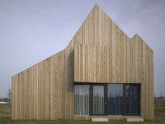 Modern Wooden House Design with Original Shape | DigsDigs