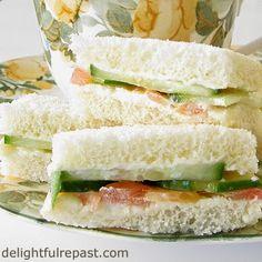 Cucumber Tea Sandwiches / www.delightfulrepast.com