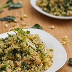 Kale and Alfalfa Quinoa Salad with Avocado {Gluten-Free, Vegan}