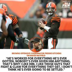 Cleveland Browns History, Cleveland Browns Football, Football Fever, Sport Football, Football Moms, Cleveland Rocks, Football Players, Baker Mayfield Nfl, Go Browns