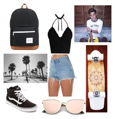 """Riding around Venice Beach with Grayson"" by dancer-34 ❤ liked on Polyvore featuring RED Valentino, Vans, Wrangler, Dolan, Herschel Supply Co., fangirl and dolantwins"