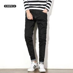 >> Click to Buy << 2017 spring new men jeans large size 30-48 male street fashion casual elastic denim pant black mens slim fit jeans trousers M985 #Affiliate