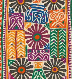 Bedding cover detail in Reverse Applique, Kutch, Gujarat