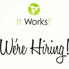 WE'RE HIRING!! send me a message at www.facebook.com/abbiegwrapsyouskinny or 507-250-2895 or you can enroll yourself at http://abbieguenther.myitworks.com and click opportunities and enroll! Easy as that!! ★★★★