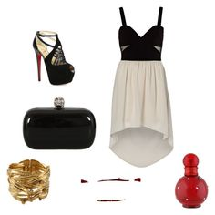 """""""Untitled #1"""" by zina1002 ❤ liked on Polyvore featuring Vero Moda, River Island, Christian Louboutin, Aurélie Bidermann, Britney Spears, Alexander McQueen, women's clothing, women's fashion, women and female"""