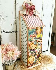 Tole Painting, Painting On Wood, Shabby Home, Decoupage Box, Country Paintings, Tea Box, Altered Boxes, Diy Organization, Organizing