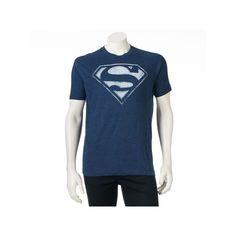 Men's DC Comics Superman Logo Tee, Size: Large, Blue (Navy)