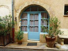 La porte bleue de Cucuron.... The blue door in Cucuron | Flickr - Photo Sharing!