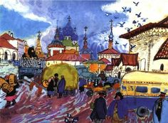 Sergiev Posad by artist Tatiana Mavrina