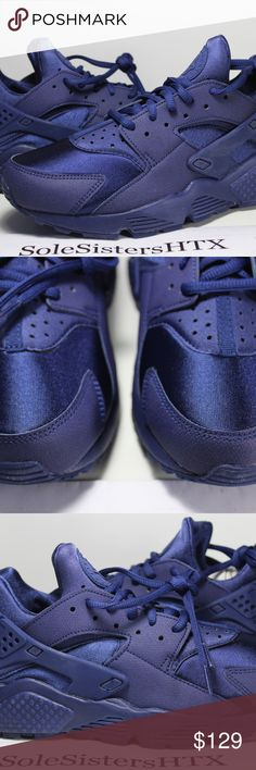 NIKE AIR HUARACHE RUN LOYAL BLUE WOMENS SNEAKERS 100% Authentic NIKE AIR HUARACHE RUN LOYAL BLUE WOMENS SNEAKERS (634835-403)  DEADSTOCK / NEW   Sz 6 WOMENS w/ OG BOX  *WE WILL NOT BE LIABLE FOR ANY FACTORY FLAWS AND THE SLIDES MIGHT HAVE BEEN TRIED ON IN STORE*  Check the pictures for reference just in case we miss anything else with regards to the actual condition of the sneakers.  Also, use the zoom in option!  For more question or if you need more pictures feel free to message us.  DO…