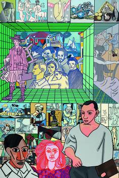 Erro : Hommage à Picasso, 1982. Peinture glycérophtalique sur toile. 195,5 cm x 132. Adagp, paris 2015. Photo CNAP / Yves Cheno.