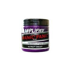 MANIC PANIC AMPLIFIED Ultra Violet Semi-Permanent Hair Colour ($16) ❤ liked on Polyvore featuring beauty products, haircare, hair color, hair dye, hair, manic panic, hair stuff and makeup
