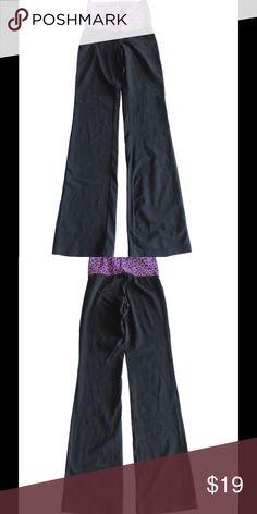 Size XS Pink Leopard Top Black Yoga Pants Good condition PINK Victoria's Secret Pants Track Pants & Joggers