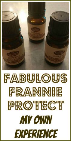 My experience with Fabulous Frannie Protect essential oil germ-fighting blend. I decided to go with this, instead of one of the MLM brands.