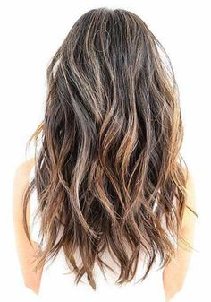 Long Wavy Medium-Ash-Brown Hair with a Soft Undercut and Short Layers