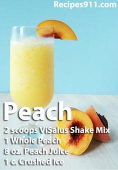 Peach ViSalus Shake www.recipes911.com