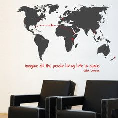 World Decal, $71, now featured on Fab.