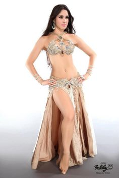 lilibellydance.com nude and silver costume