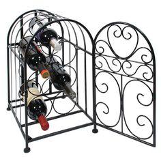 #vino #hierro Black Wrought Iron Vintage Aviary Wine Rack